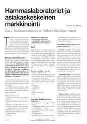 Hammaslaboratoriot ja asiakaskeskeinen markkinointi