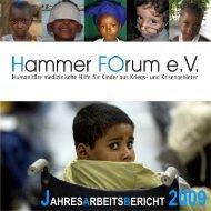 JAHRESARBEITSBERICHT 2009 - Hammer Forum eV