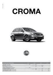 VERSIONEN UND PREISE CROMA - Hammer Auto Center AG