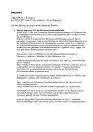 Protokoll Sitzung vom 15.04.2013 Forum Senioren - in Hamminkeln