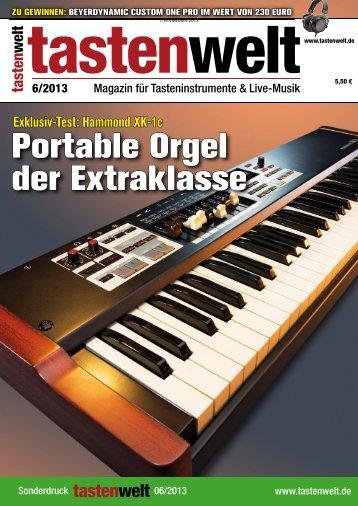 Testbericht XK-1c in der Tastenwelt - Hammond.de