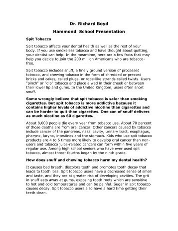 You can read more about the information ... - Hammond School