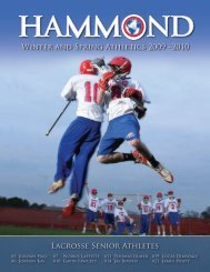 2010 Winter & Spring Sports - Hammond School