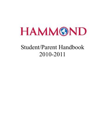 Student/Parent Handbook 2010-2011 - Hammond School