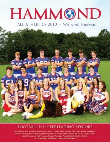 Fall 2010 Athletic Program - Hammond School