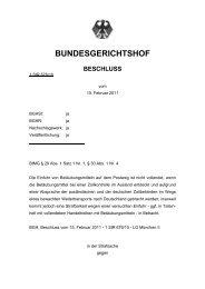 BUNDESGERICHTSHOF - Hamm und Partner, Rechtsanwälte