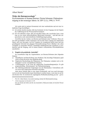 Albert Martin - Rainer Hampp Verlag
