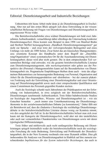 Editorial - Rainer Hampp Verlag