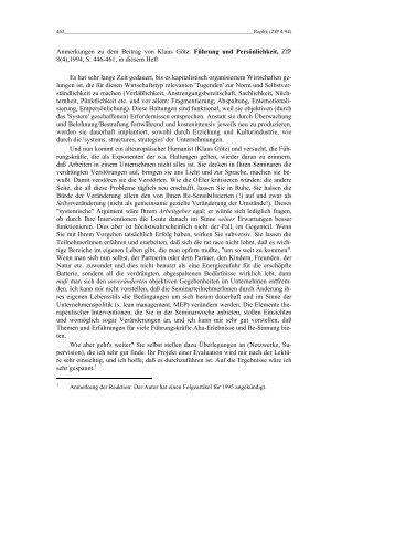 Replik - Rainer Hampp Verlag