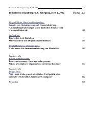 Industrielle Beziehungen, 9. Jahrgang, Heft 2, 2002 IndBez 9(2)