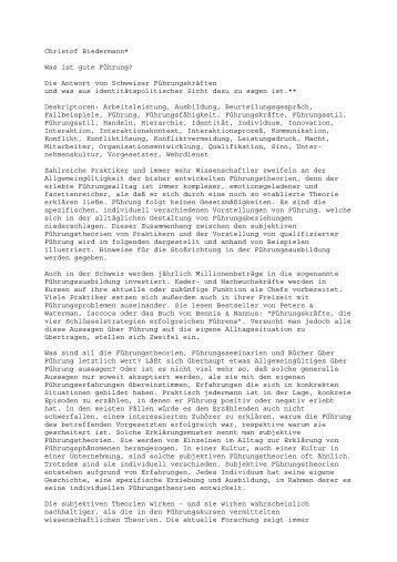 Christof Biedermann* Was ist gute Führung? - Rainer Hampp Verlag