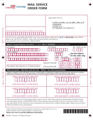 Walgreens Mail Service Form