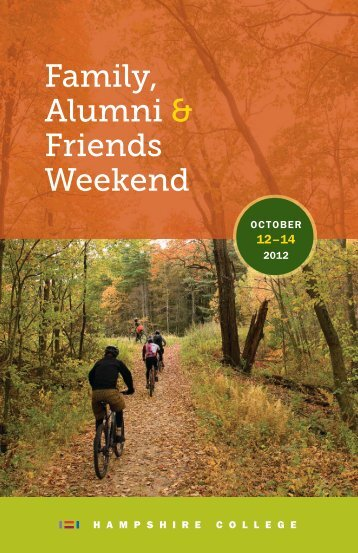 Weekend program (printable .pdf) - Hampshire College