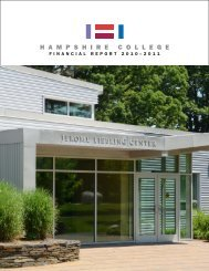Financial Report Fiscal Year 2010-2011 - Hampshire College