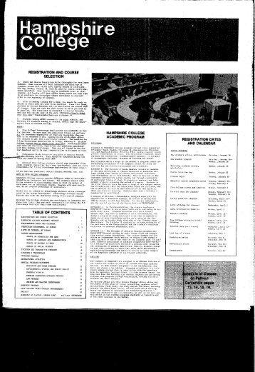 Spring 1980 - Hampshire College