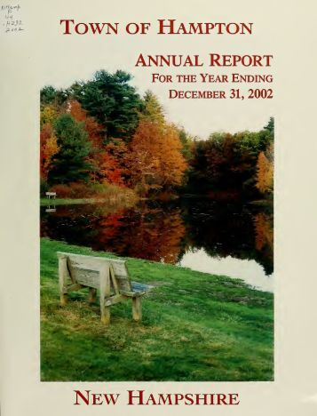 Annual report of the Town of Hampton, New Hampshire