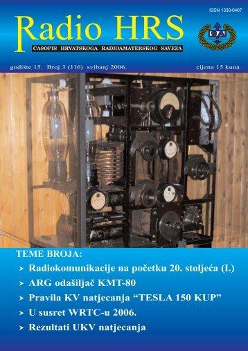 Radio HRS 3/06 - Hrvatski Radioamaterski Savez