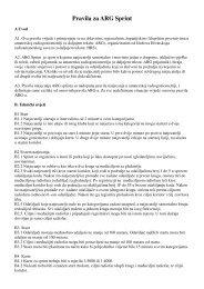 Pravila za ARG Sprint