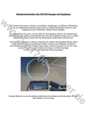 Fernstart der VN1700 über die optionale Schaltung einer Alarmanlage