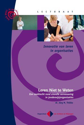 Leren Niet te Weten - Hogeschool van Arnhem en Nijmegen