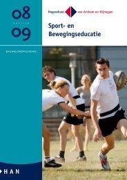 [PDF] Brochure opleiding Sport- en Bewegingseducatie