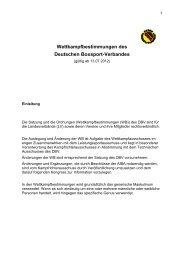 Wettkampfbestimmungen des Deutschen Boxsport-Verbandes