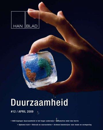HANblad 12: duurzaamheid - Hogeschool van Arnhem en Nijmegen