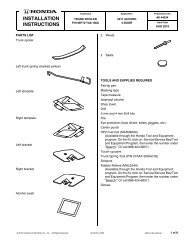 View 2011 Installation Instructions - H and A Accessories