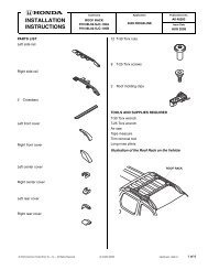 installation instruction - Bernardi Parts
