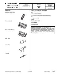 2009 Instructions - Honda Parts Now