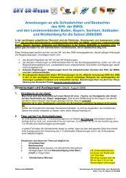 Anweisungen an alle Schiedsrichter und Beobachter des SHV, der ...