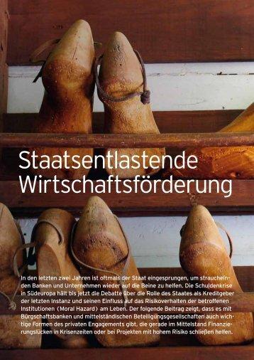 Staatsentlastende Wirtschaftsförderung - Bürgschaftsbank Baden ...