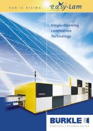 Single-Opening Lamination Technology - Robert Bürkle Gmbh ...