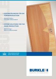 pressenlinie für 3-lagige türen press line for 3-layered doors
