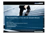 The Untold Story of the African Growth Miracle
