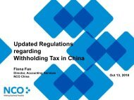 Updated Regulations regarding Withholding Tax in China