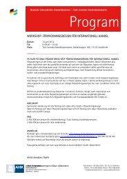 Program - Tysk-Svenska handelskammaren