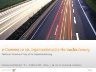 E-Commerce als organisatorische Herausforderung - Handelsverband