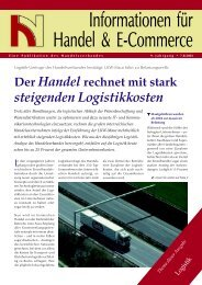Logistik - Handelsverband