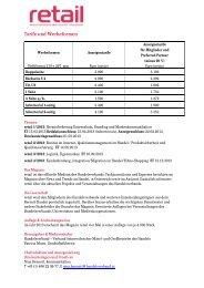 Mediadaten retail 2013 - Handelsverband