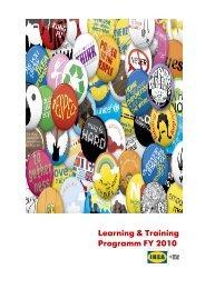 Learning & Training Programm FY 2010 - Handelsverband