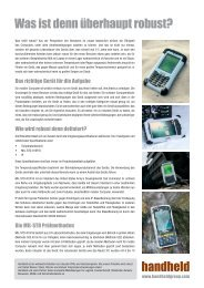 Was heißt robust? - Handheld Germany GmbH