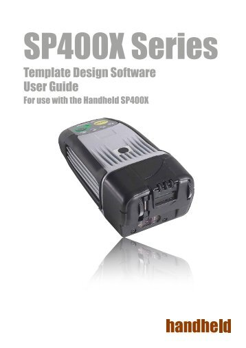Template Design Software User Guide - Handheld Group