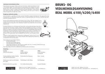 BRUKS- OG VEDLIKEHOLDSANVISNING REAL MOBIL ... - Handicare