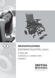 Brukermanual Ortopedia 905 - Handicare AS