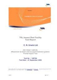 14RT04 Unwin ISO 10542 Test Report - Handicare AS