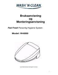 Monteringsanvisning toalettilsats med spyl ... - Handicare AS