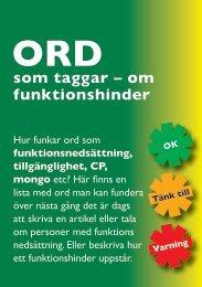 ORD som taggar - om funktionshinder - Handisam