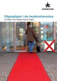 Tillgänglighet i din besöksinformation - Handisam