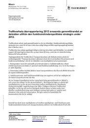Trafikverkets återrapportering 2013 avseende ... - Handisam